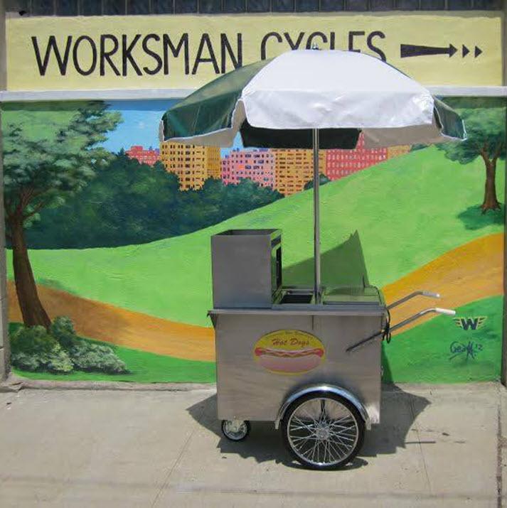 800 Buy Cart Original New York City Hot Dog Vending Cart