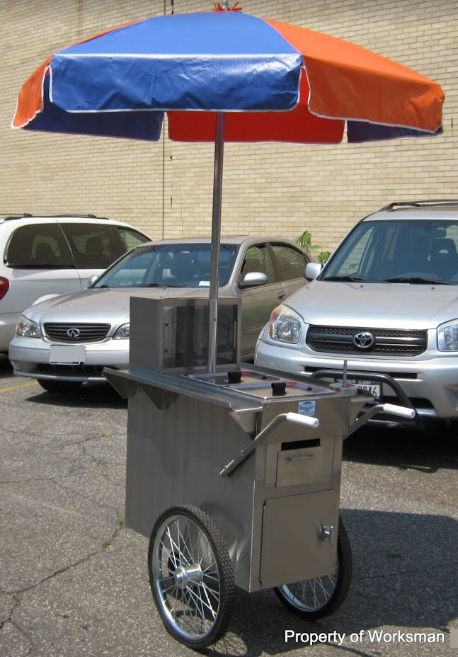 800 Buy Cart New York City Hot Dog Vending Cart V-150P