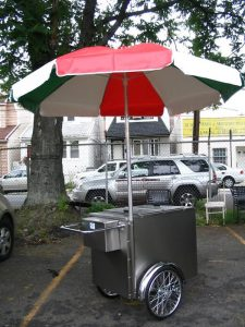 V-IP Ice Cream/Italian Ice Push Cart