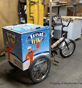 800 Buy Cart V-CT Ice Cream Tricycle